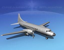 3D Convair CV-340 Bare Metal