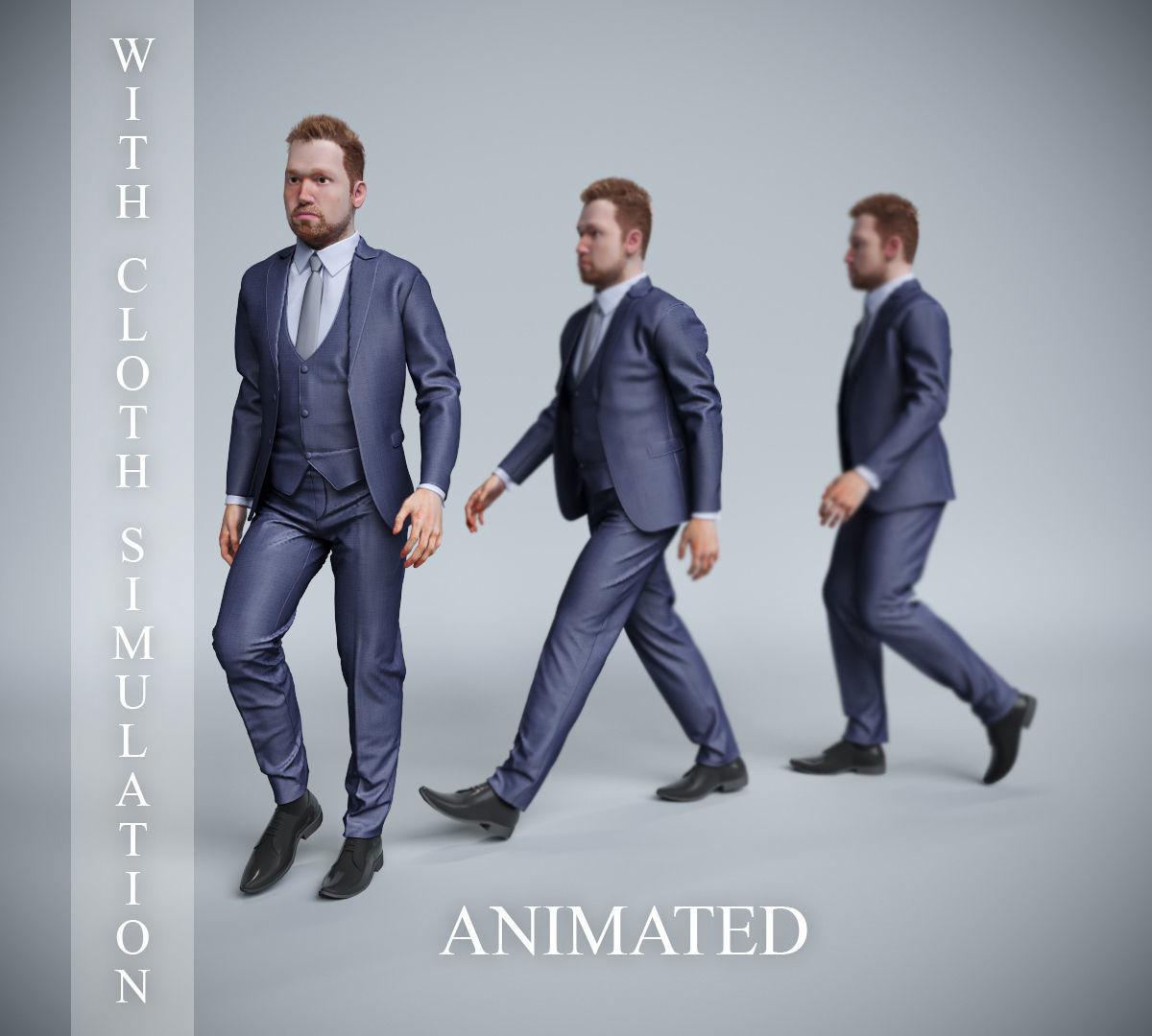 businessman walk