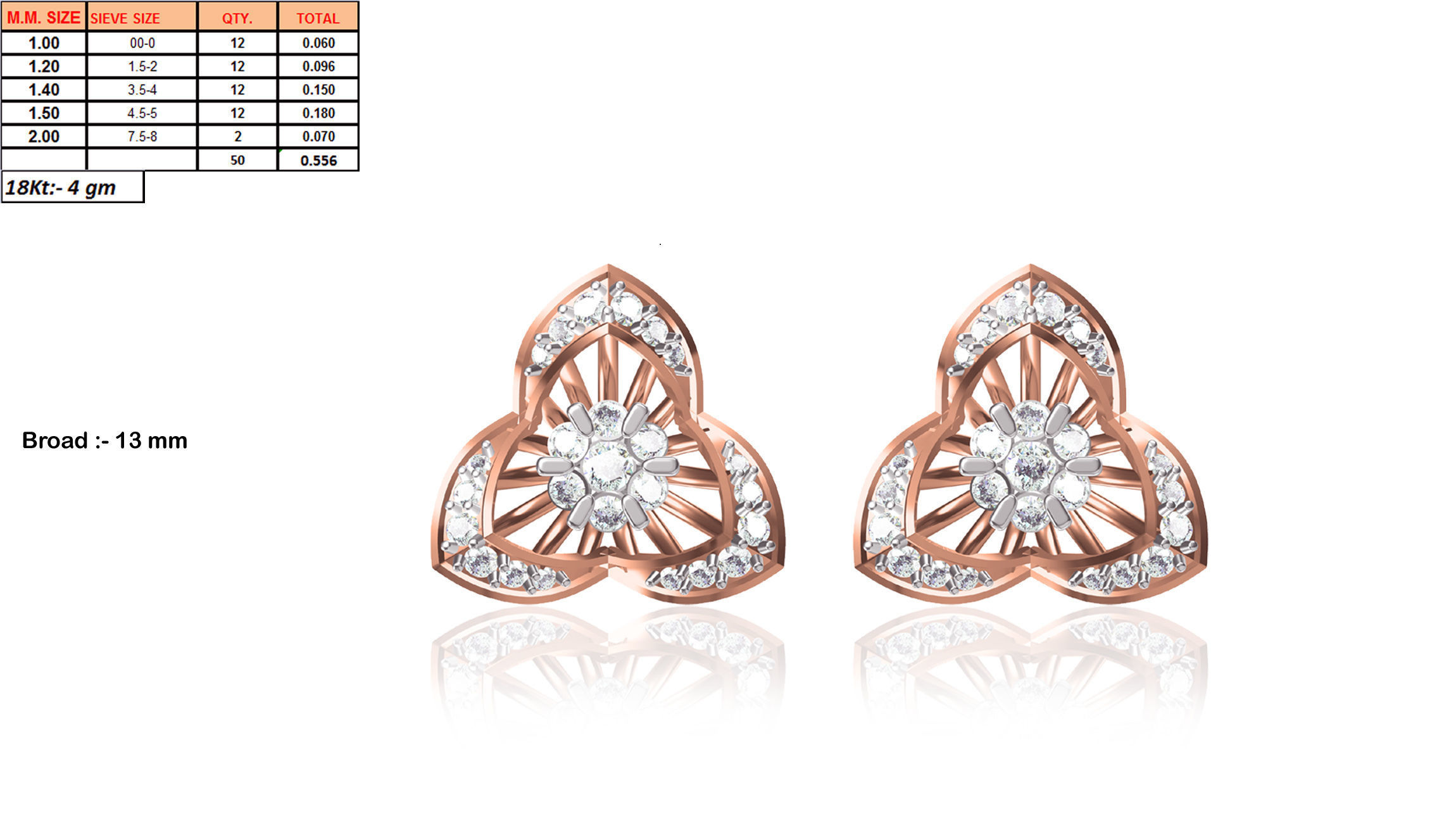 d96058490 China Xuping Fashion Rose Gold Color Stud Earrings In Flower Shape