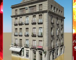3D model Photorealistic Low Poly Building