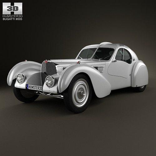 bugatti type 57sc atlantic 1936 3d model max obj 3ds fbx c4d lwo lw lws 1