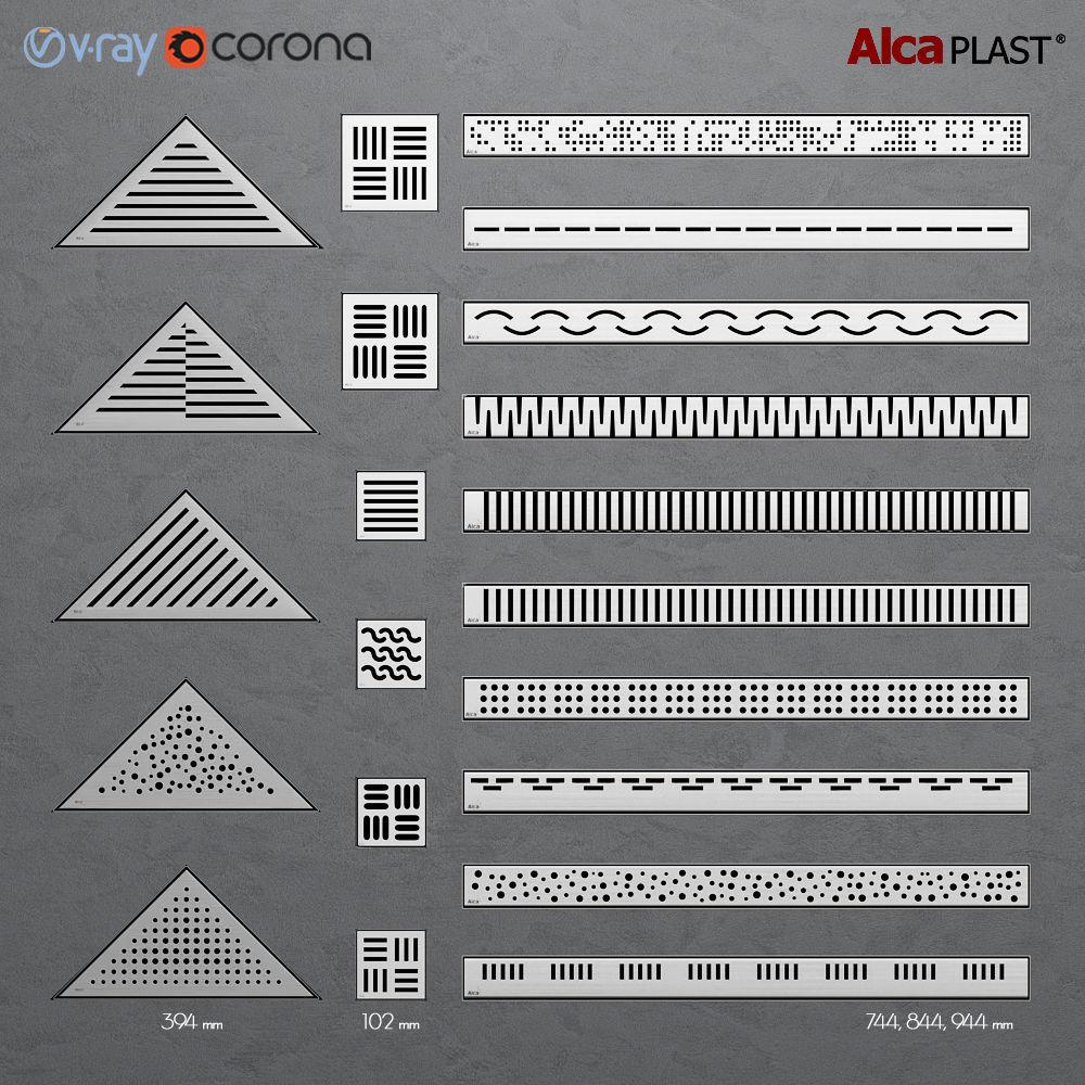 Shower channels - drainage ladders Alca Plast   3D model