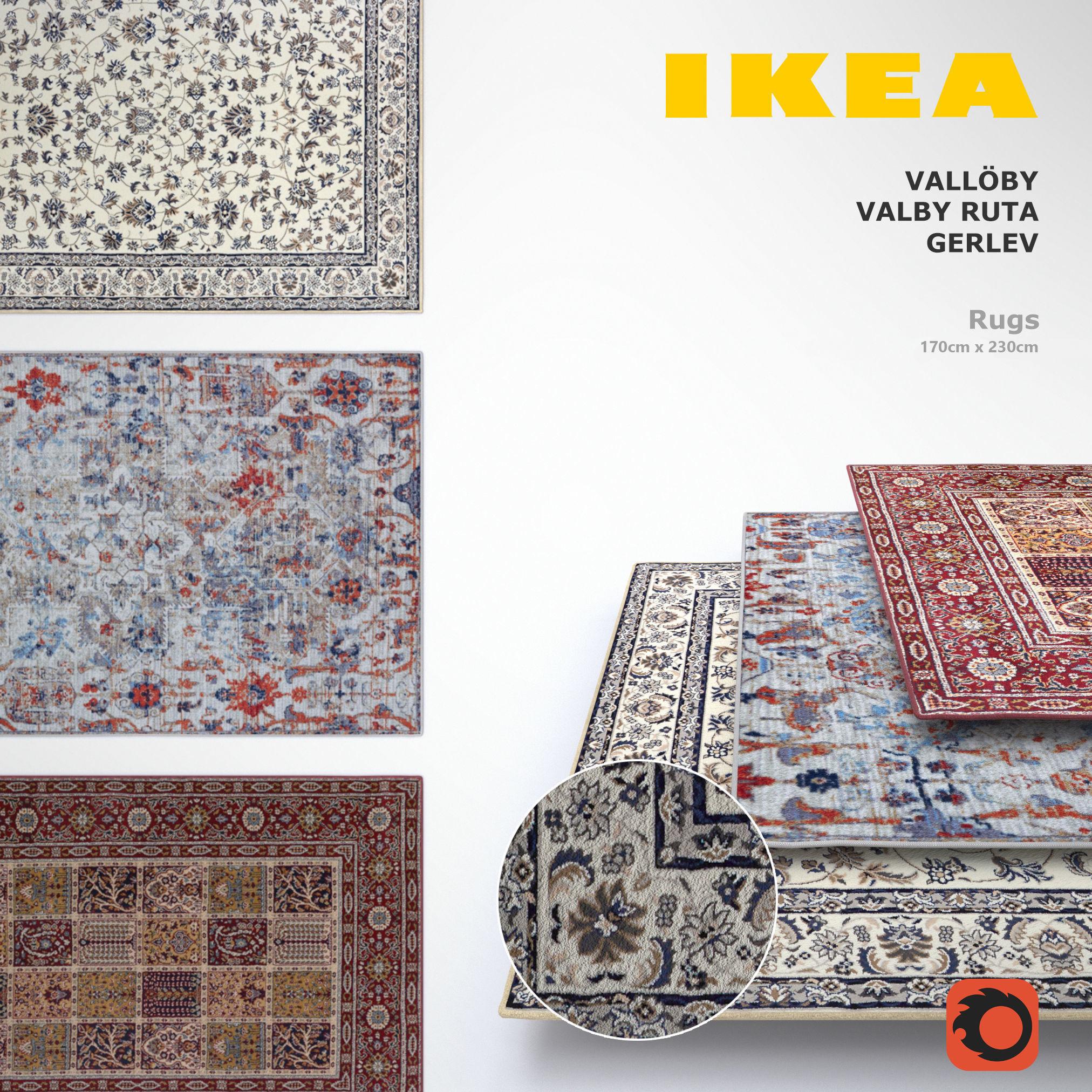 Ikea Rugs Set Et Cgtrader