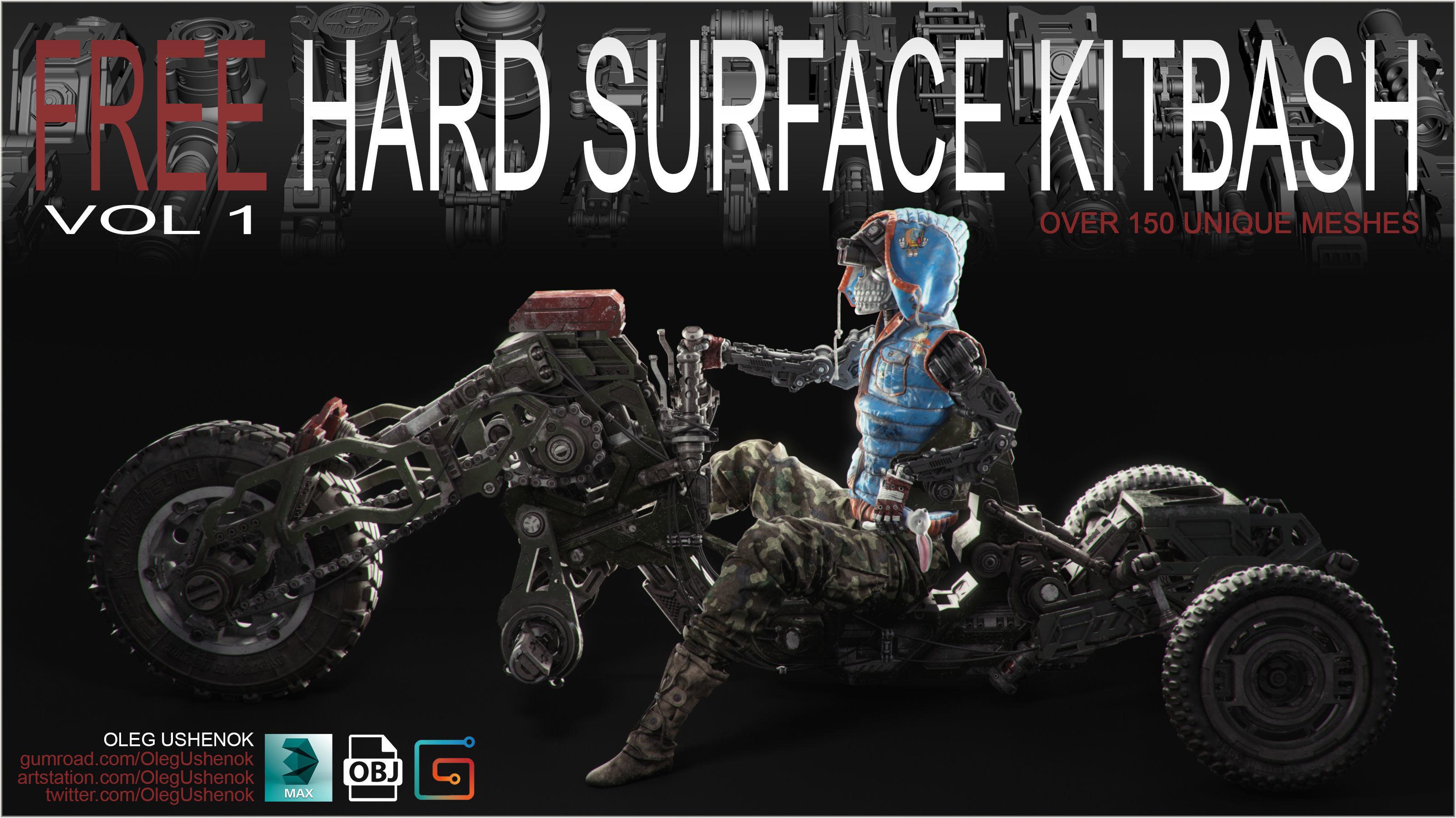 3D model FREE Hard Surface Kitbash Volume 1 | CGTrader