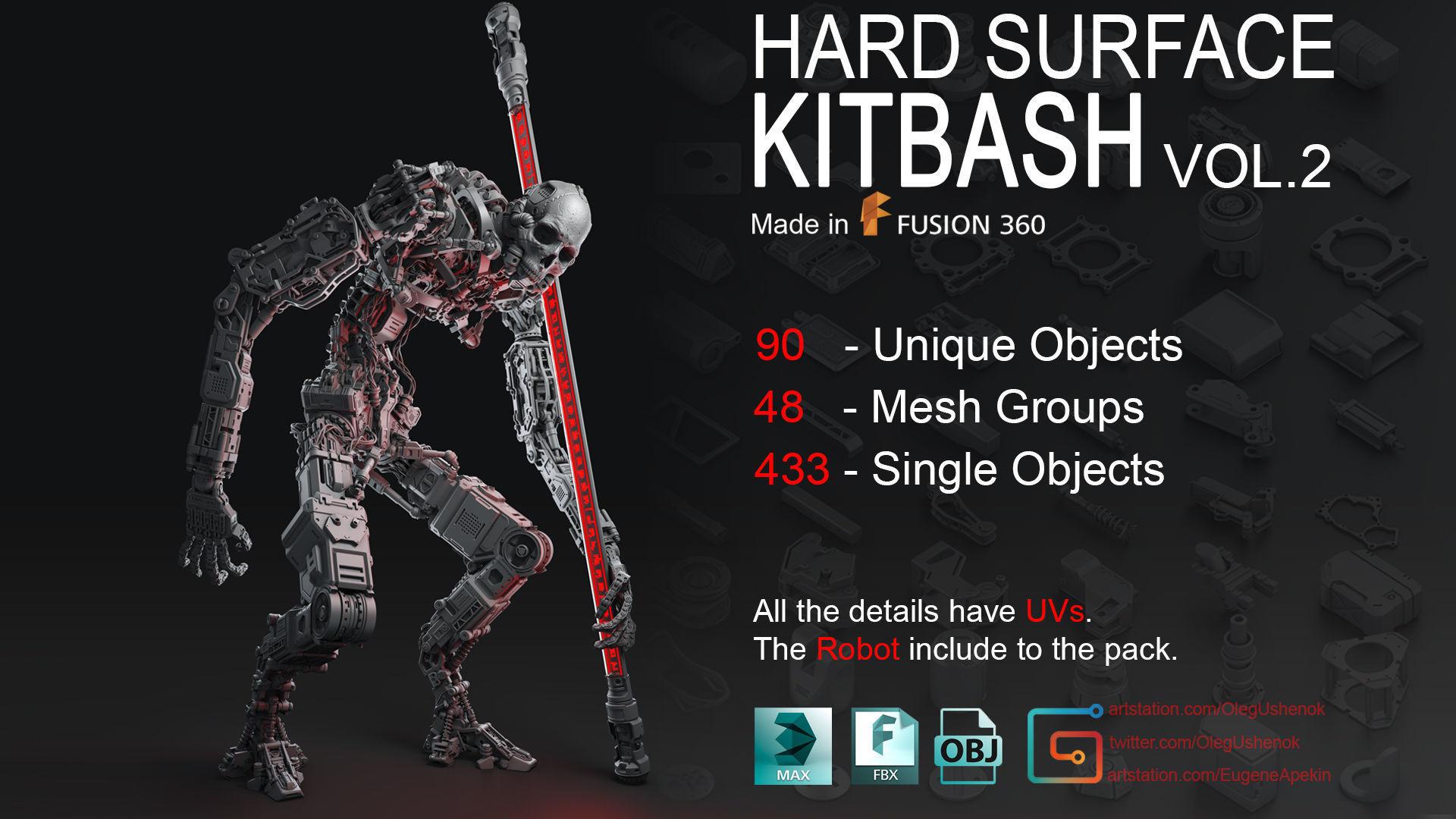 Hard Surface KitBash Volume 2