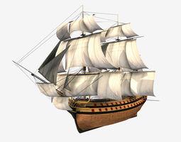 3D asset Low Poly PBR HMS Vangaurd