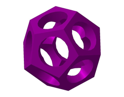 3d printable model dodecahedron