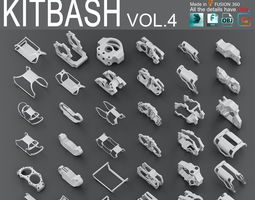 Hard Surface KitBash Volume 4 3D