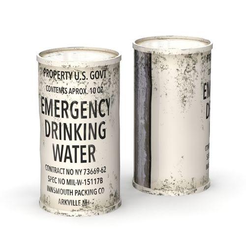 emergency water can 3d model obj mtl fbx lwo lw lws blend 1