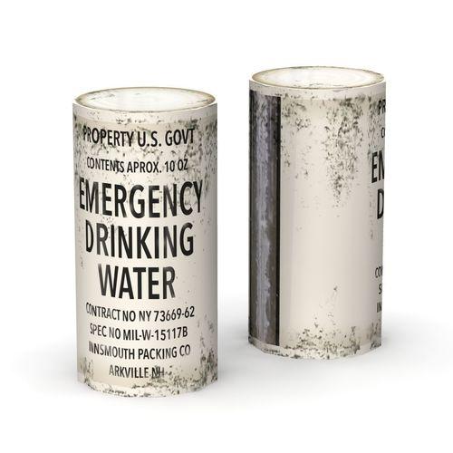 emergency water can -- low poly 3d model obj mtl fbx lwo lw lws blend 1