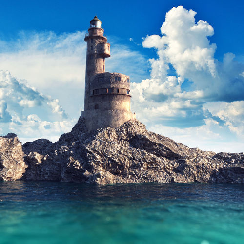 old lighthouse v-ray scene 3d model max obj mtl fbx tga 1