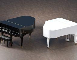 3D model animated PBR Grand Piano
