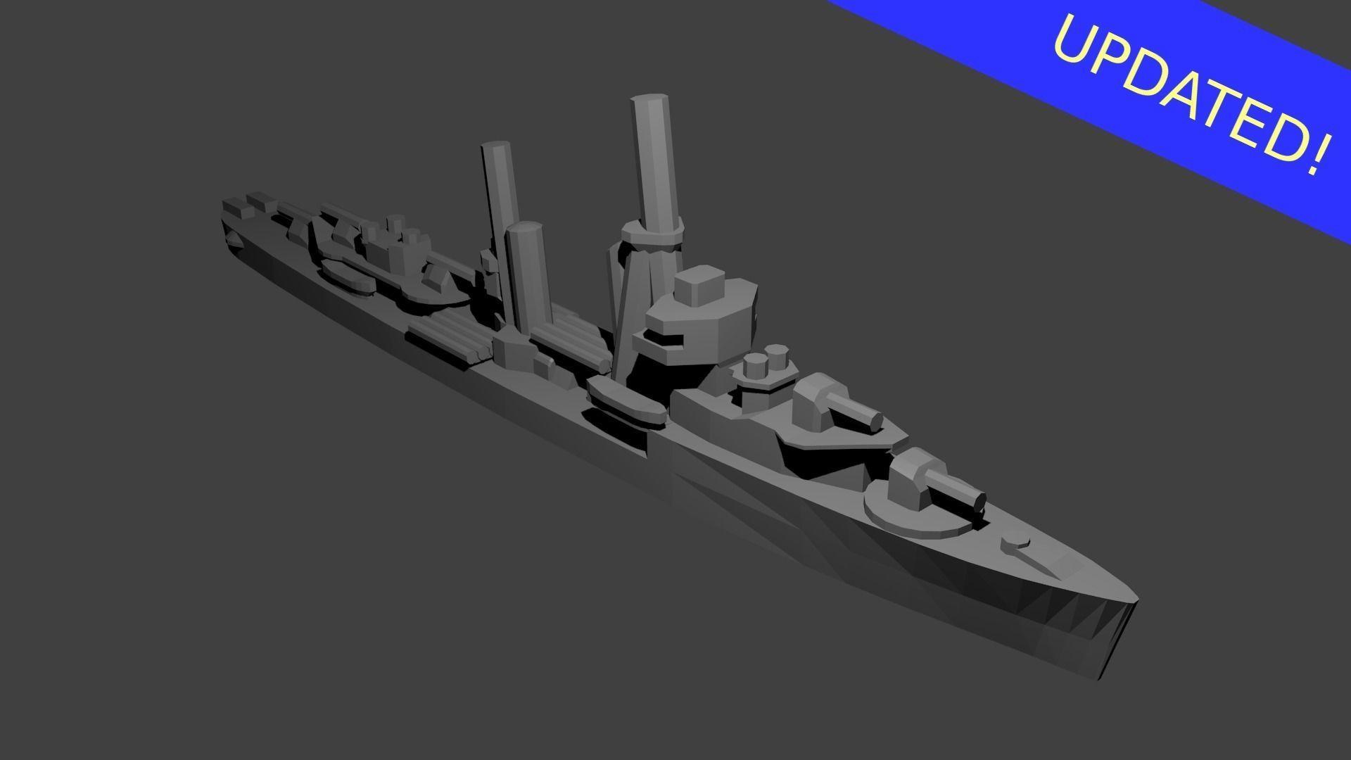 US Mahan Class Destroyer Warship