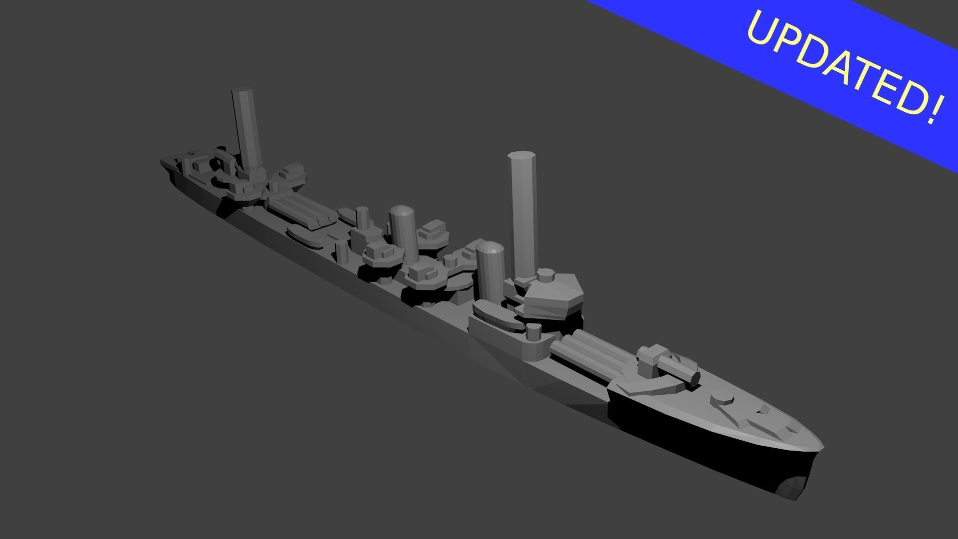 Japanese Mutsuki Class Destroyer Warship