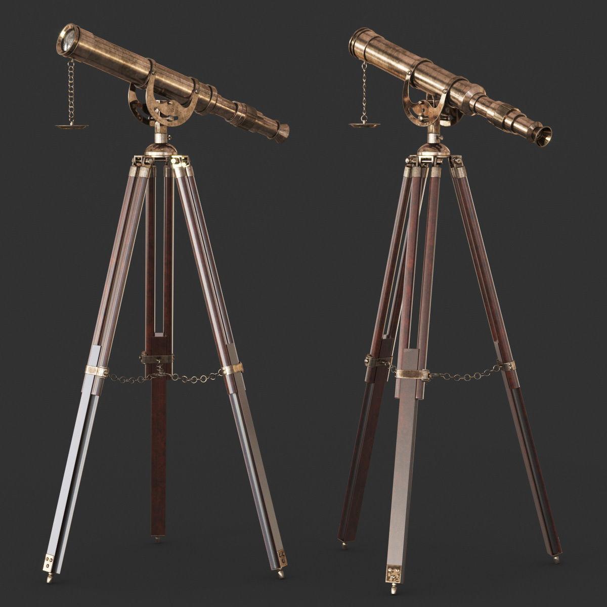 Vintage Antique Tripod Telescope