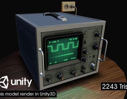 Electronic Instrumentation Oscolloscope 02 3D asset