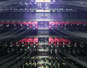 3D model Internet servers close up scene vray ready