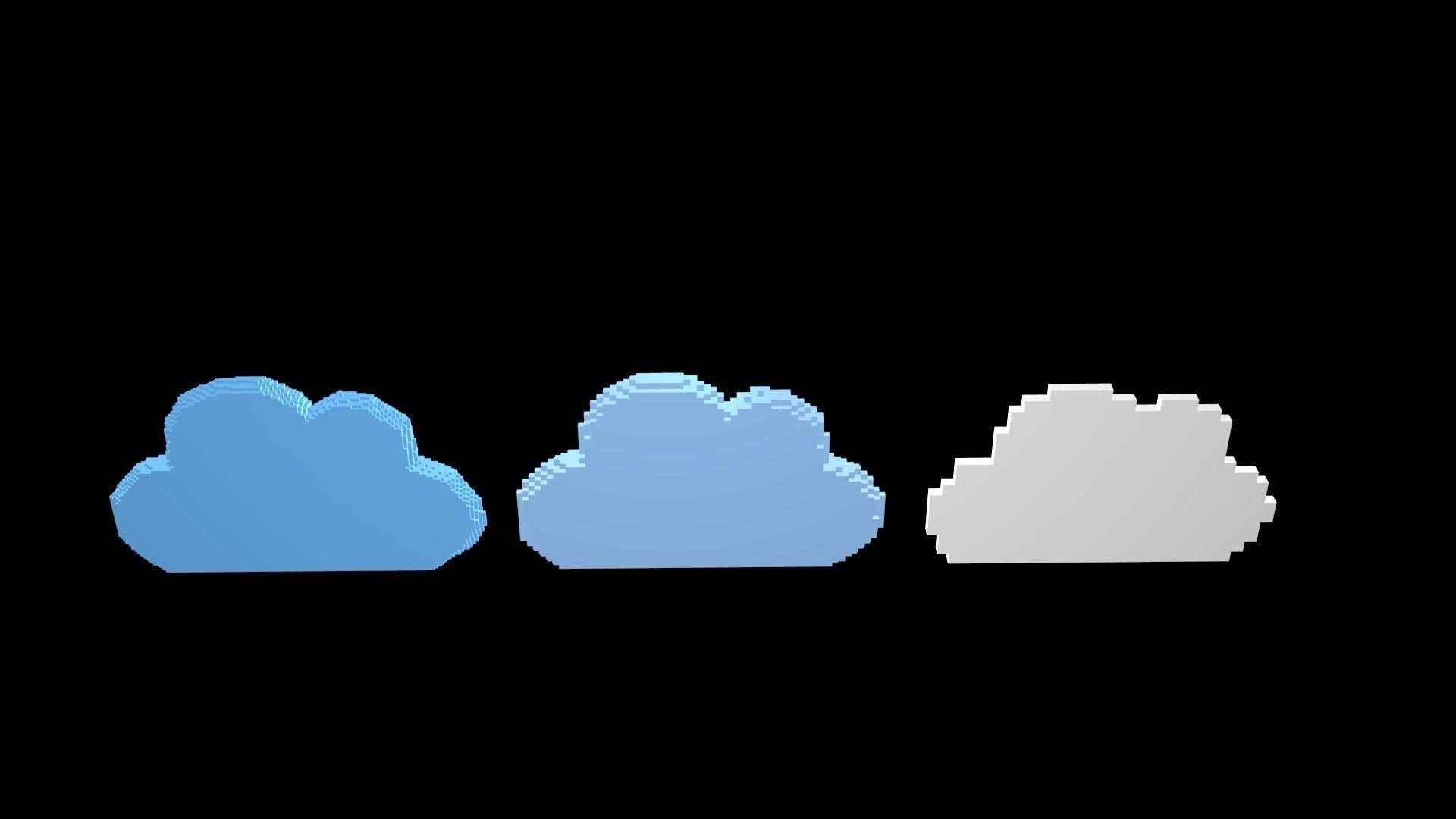 Cloud symbols voxel
