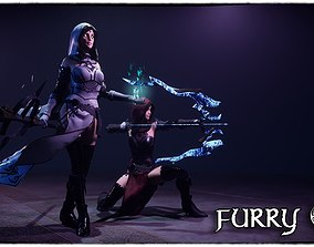 FurryS2 Sorcerer and Archer for Unity 2018 3D asset