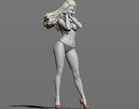 3D print model Girl in the wind