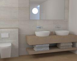Modern Bathroom interiour 3D model
