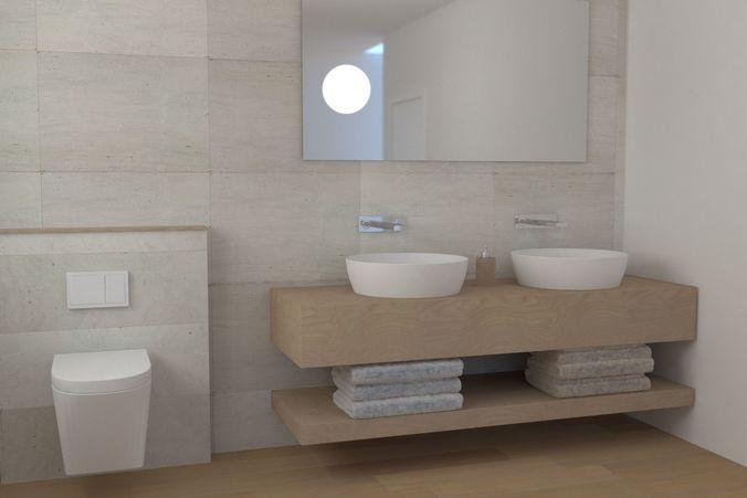 modern bathroom 3d model max obj mtl fbx 1