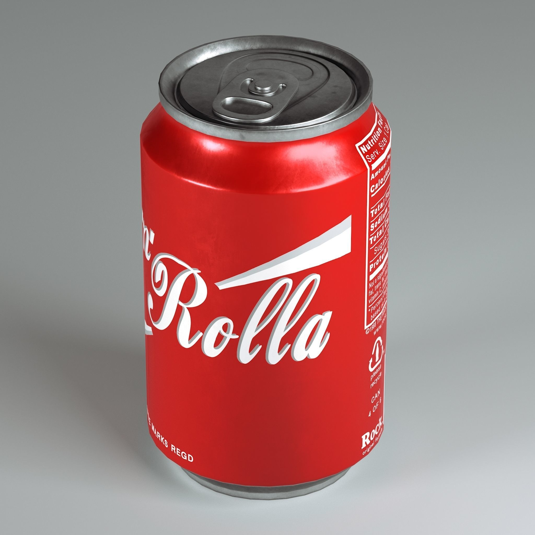 Soda Can VR AR low-poly 3D model