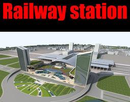 3d model railway station 018