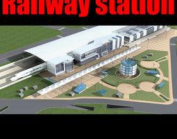 railway station 019 3d model