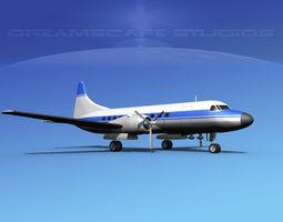 Convair CV-340 Corporate 3 3D