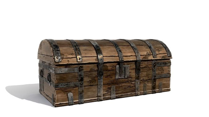 3d Asset Medieval Wooden Chest Cgtrader