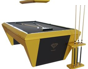 Diamond Modern American Pool Table - 9ft 3D