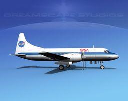 Convair CV-340 NASA 3D