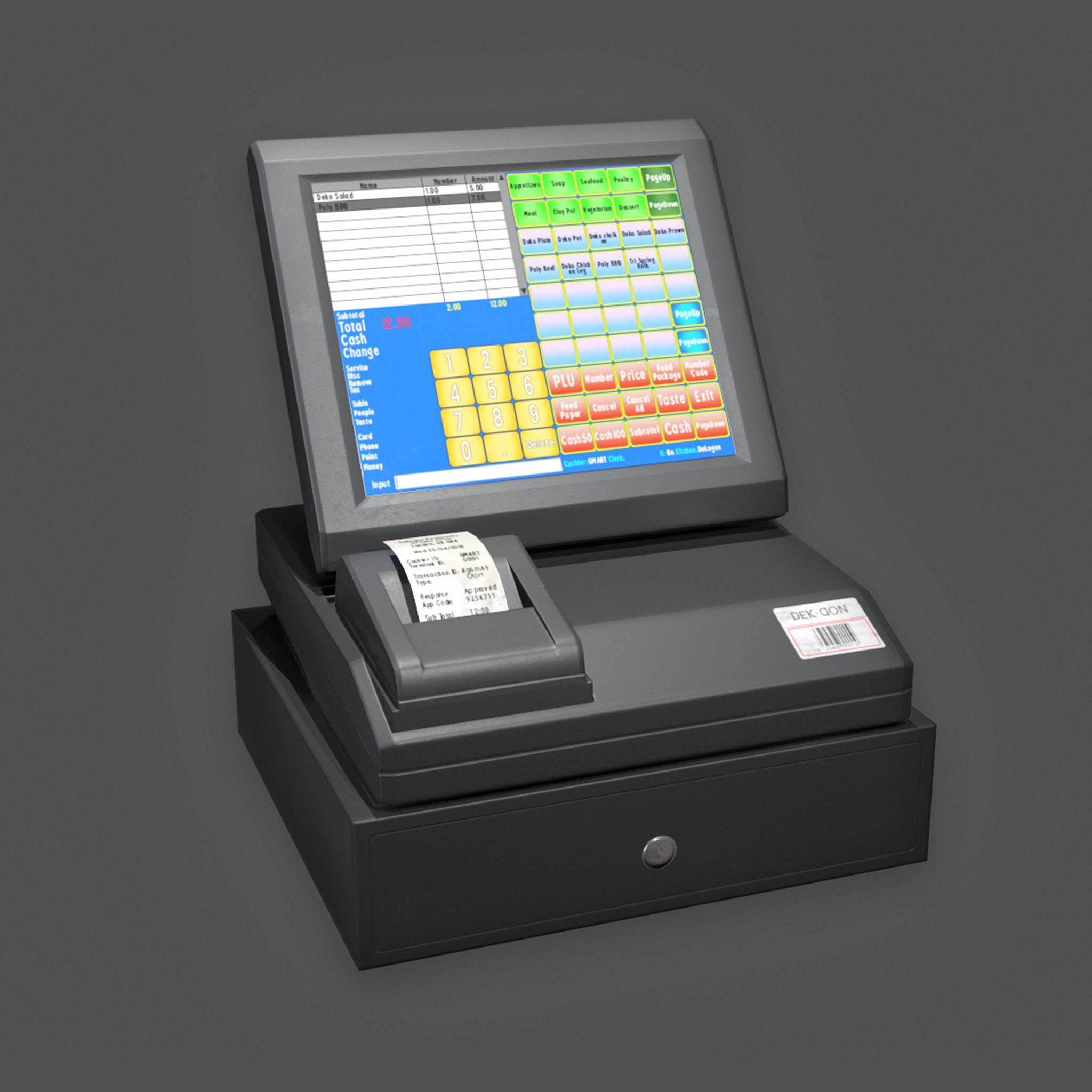 KTC - Electronic Cash Register - PBR Game Ready