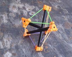 Tensegrity Rod End 3D print model diy