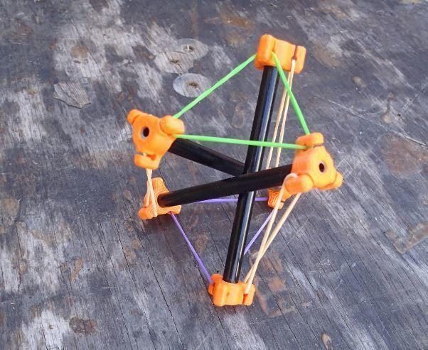 tensegrity rod end 3d model stl 1