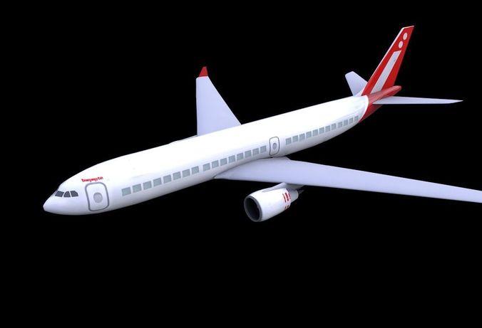 3D asset VR / AR ready Plane | CGTrader