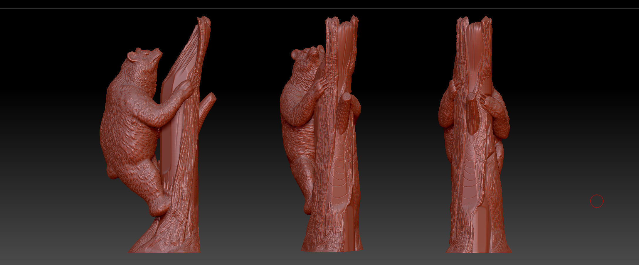3d Printable Model Bear On Tree Cgtrader Wrist Red Obj Mtl 3ds Fbx C4d Stl 3