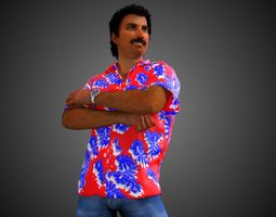 Thomas Magnum P I 3D model