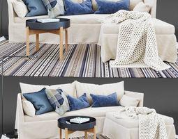 3D model SANDBACKEN 3-seat sofa