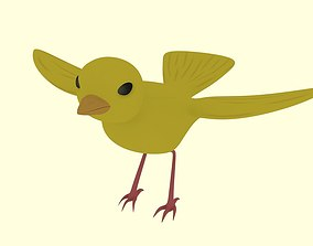 3D rigged Yellow Bird Canary