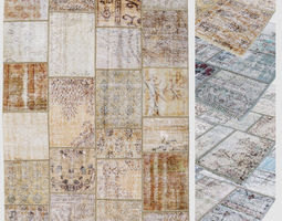 3D model Carpet patchwork 04