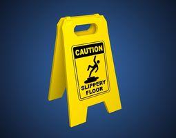 Slippery Floor Sign 3D model