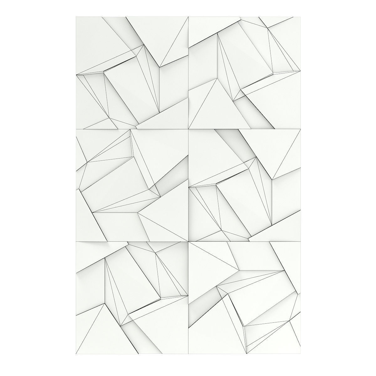 Cracked Metal Wall Panel