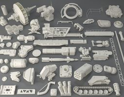 Kit bash - 54 pieces - collection-7 3D
