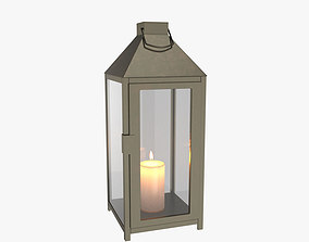 3D model Lantern candle old
