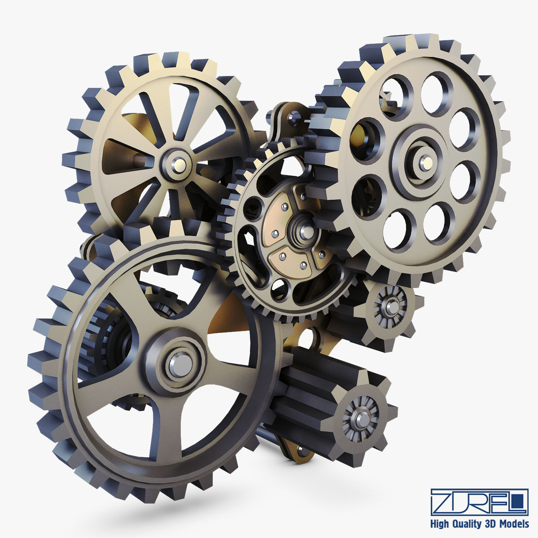 Gear Mechanism Low Poly v 7