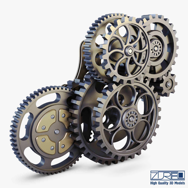 Gear Mechanism Low Poly v 3