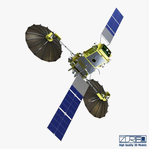 artificial satellite loutch 5v 3d model max obj mtl fbx 1