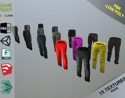 Pants Loose Fit Pack 3D asset